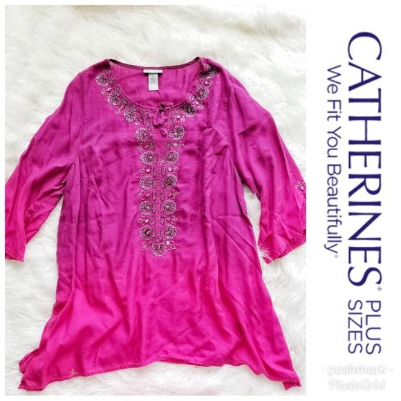 Catherines Tops Plus Size Dip Dye Blouses Poshmark